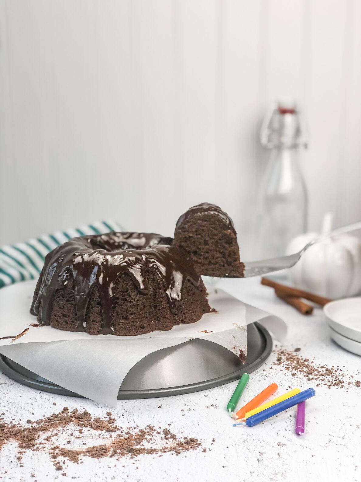 Kate's Safe and Sweet - Spiced Chocolate Pumpkin Cake