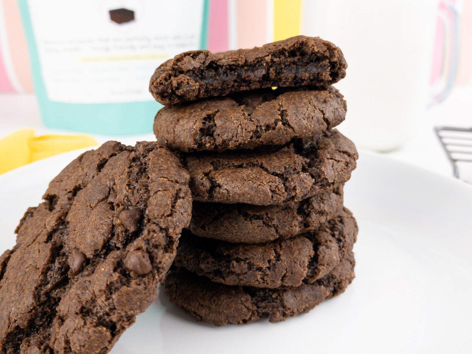 Kate's Safe and Sweet - Brownie Cookie Stack Cookies
