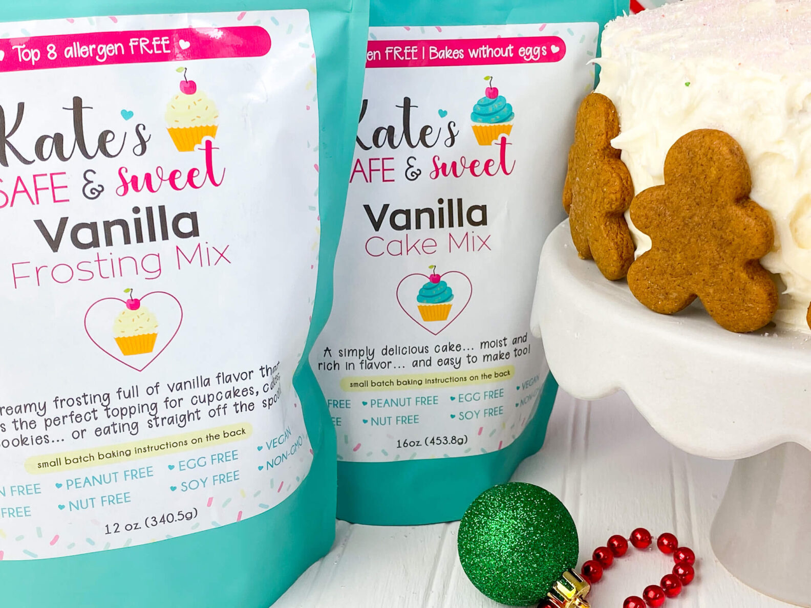 Kate's Safe and Sweet - Gingerbread Cake Mixes