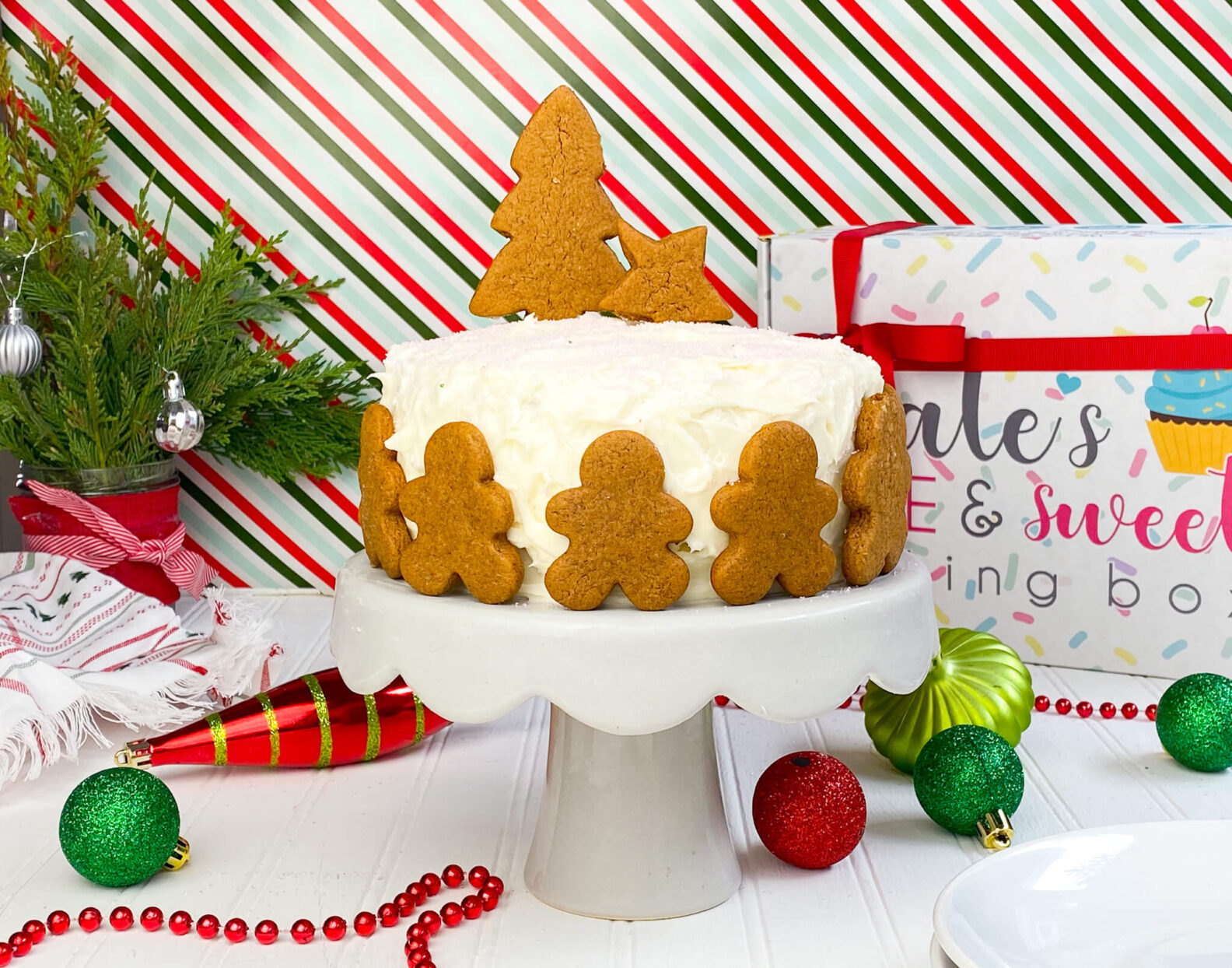 Kate's Safe and Sweet - Gingerbread Cake with Cookies