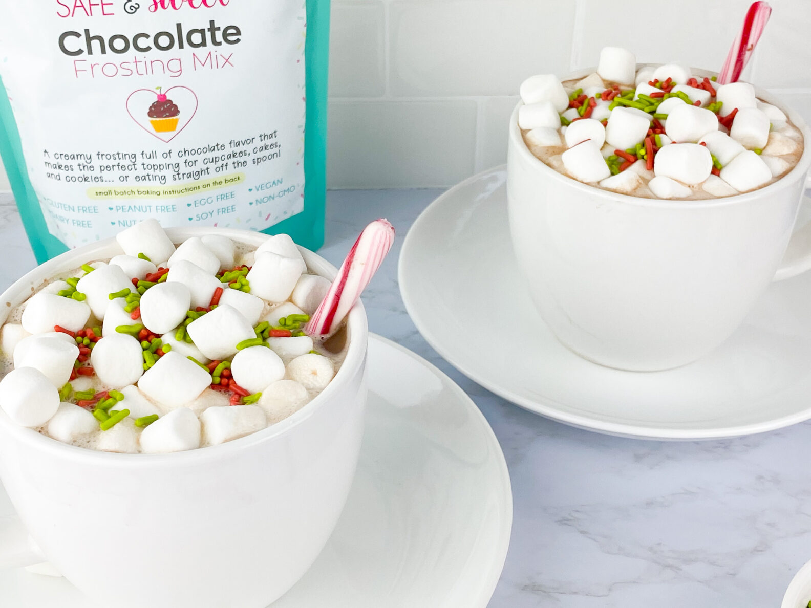 Kate's Safe and Sweet - Hot Cocoa Mug with Toppings