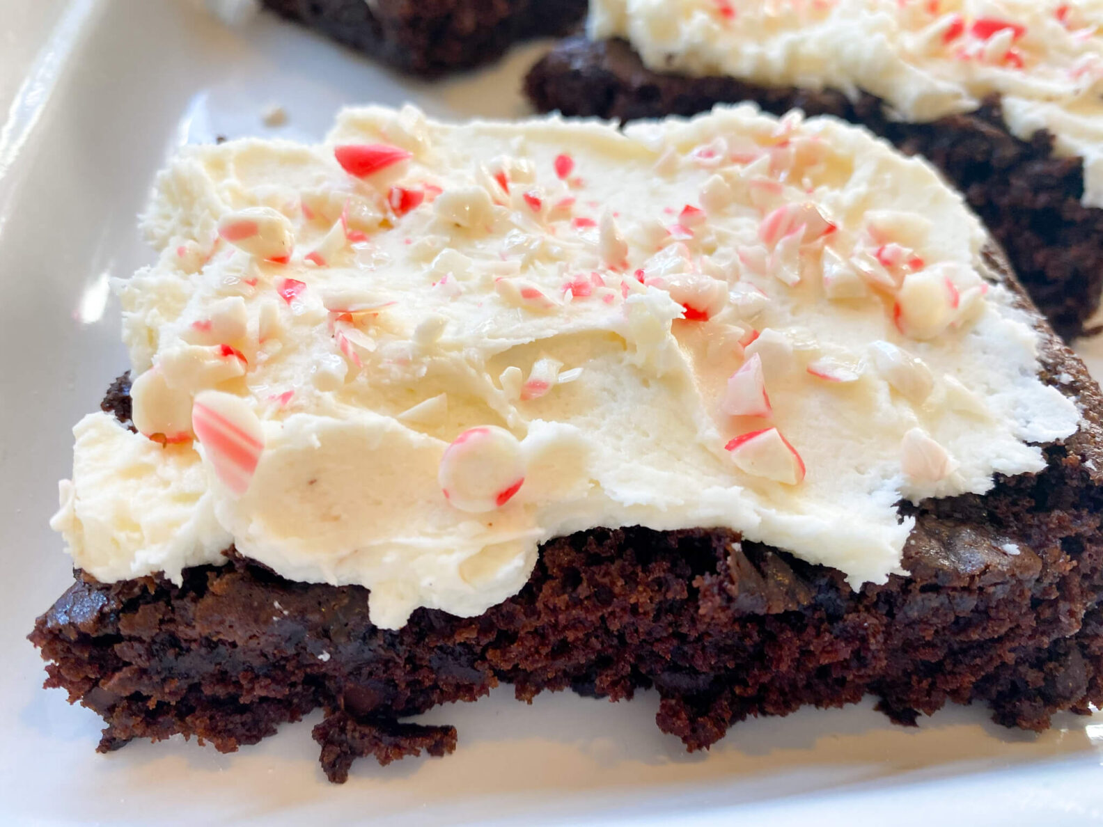 Kate's Safe and Sweet - Peppermint Frosted Brownies