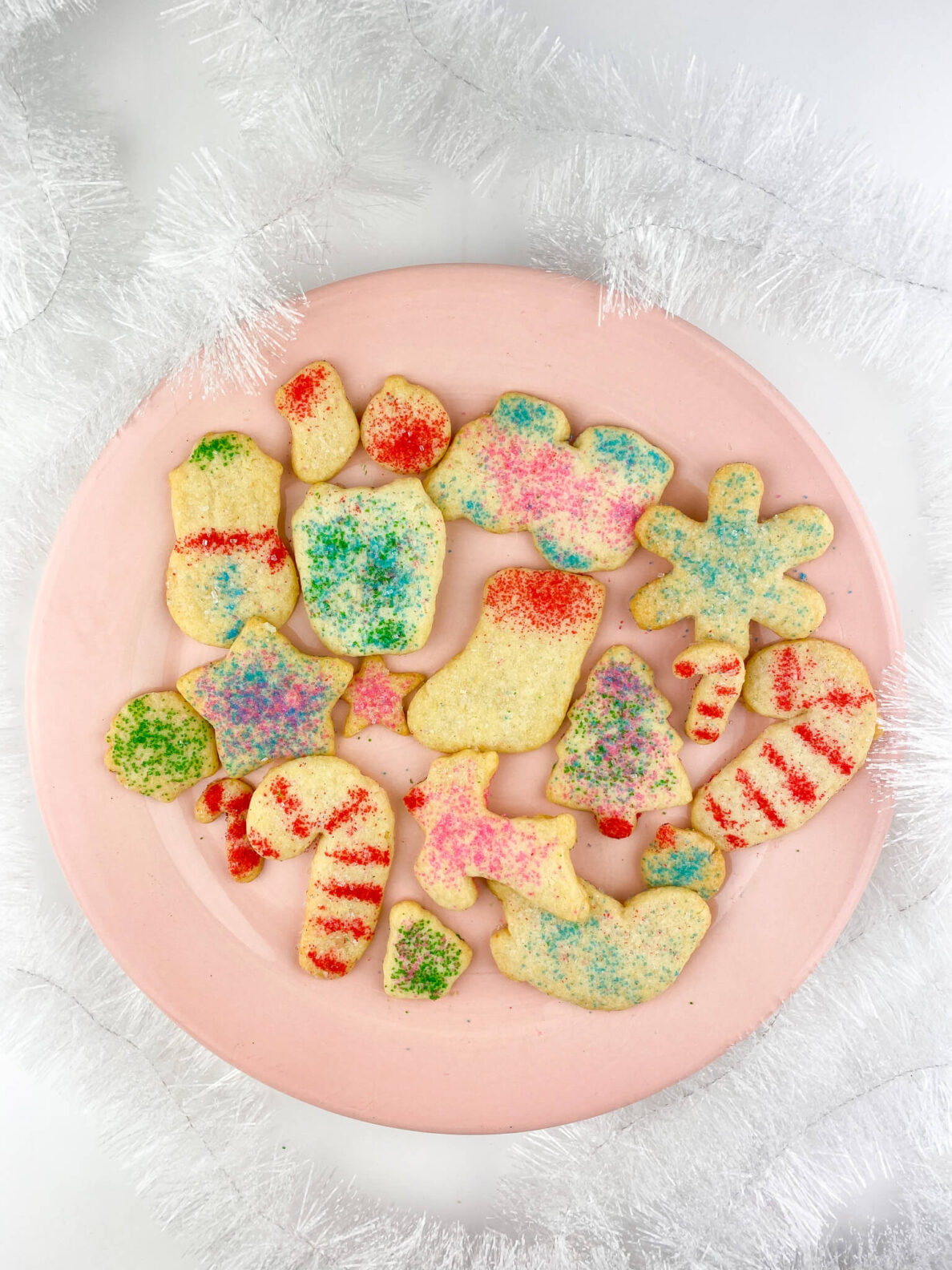 Kate's Safe and Sweet - Rolled Sugar Cookies on Plate Garland