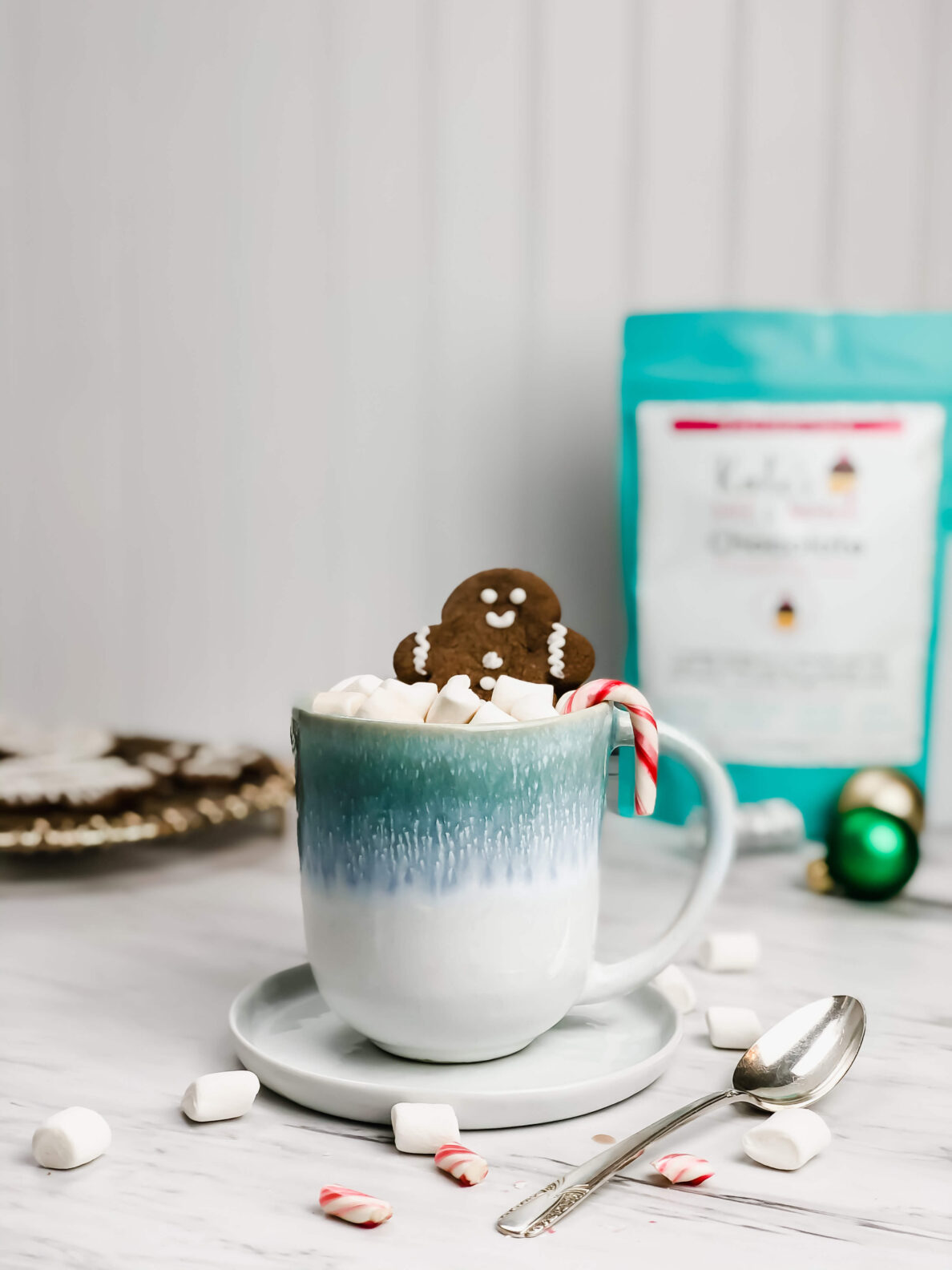 Kate's Safe and Sweet - chocolate gingerbread in hot chocolate