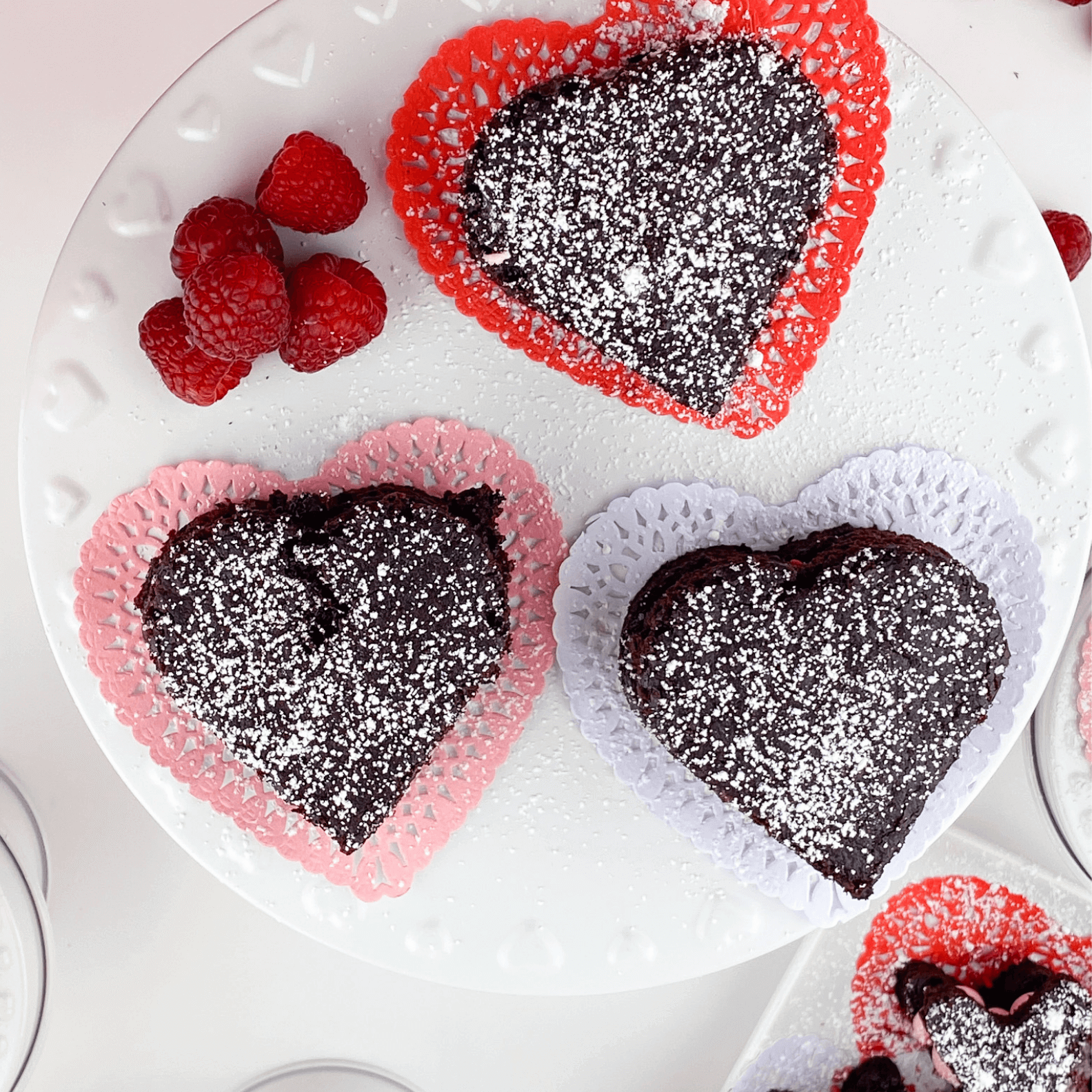 Kate's Safe and Sweet - Raspberry Brownies Three Large-