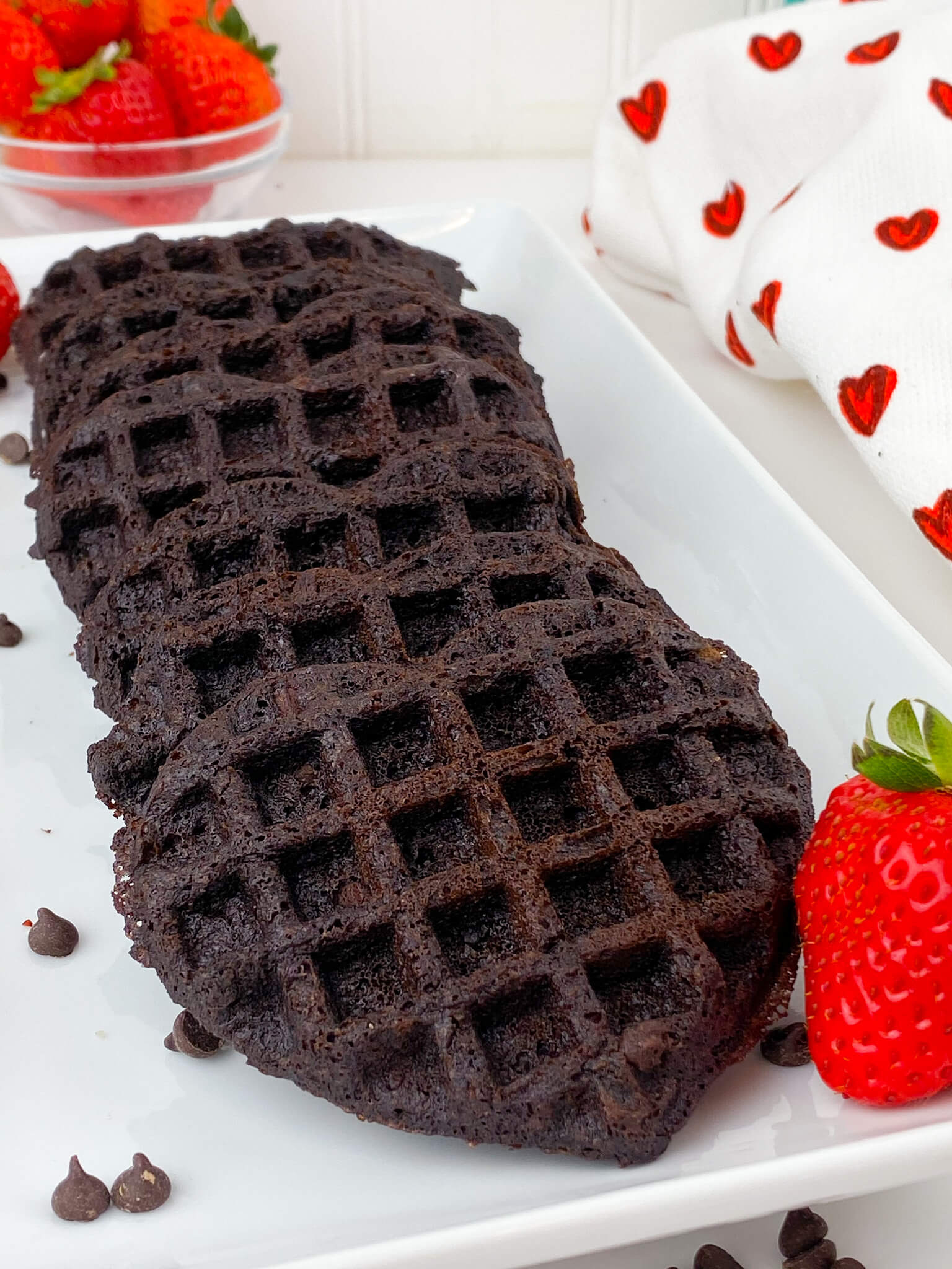 Kate's Safe & Sweet - Brownie Waffles - On Tray
