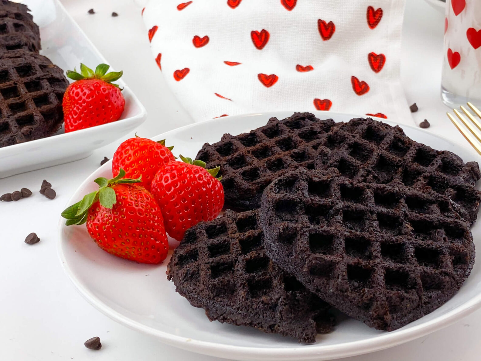 Kate's Safe & Sweet - Brownie Waffles with Berries
