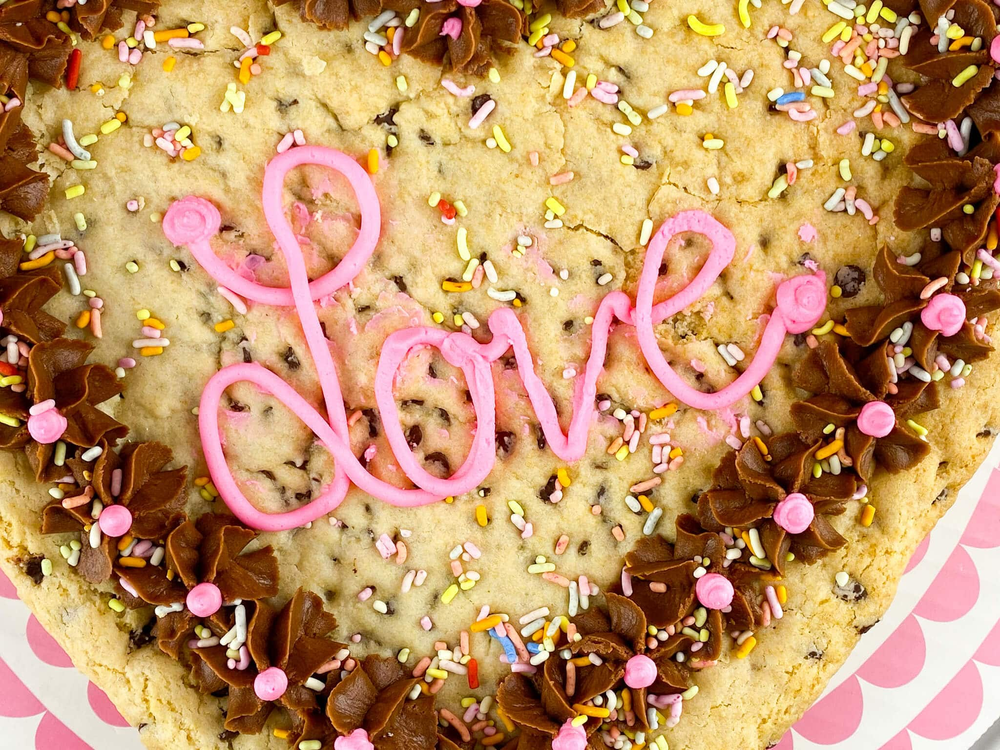 Kate's Safe and Sweet - Heart Shaped Cookie Cake Love