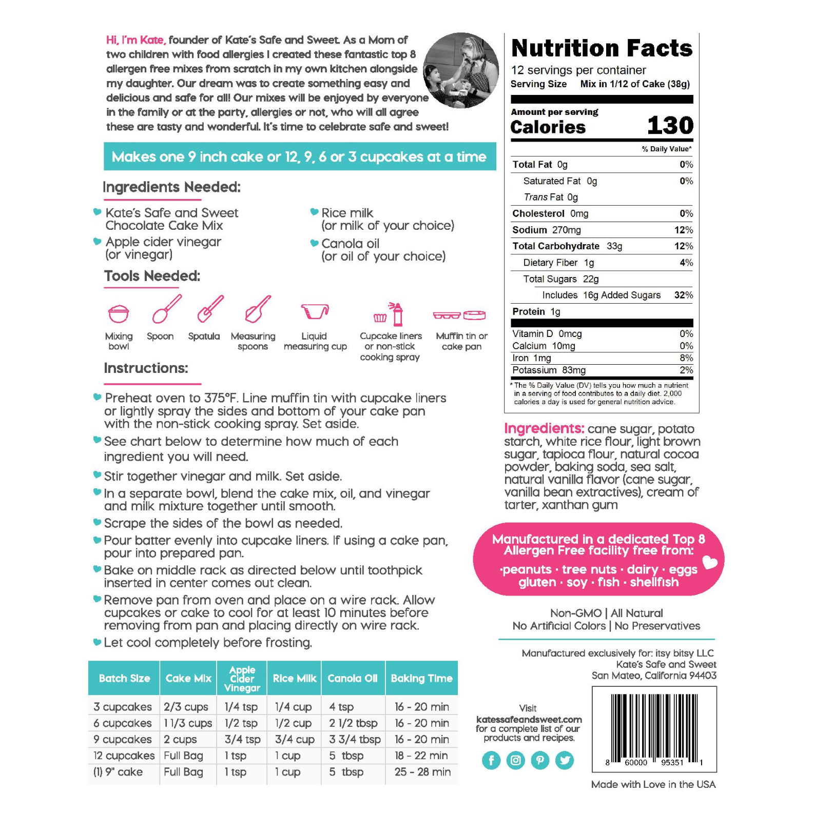 Kate's-Safe-and-Sweet---Chocolate-Cake-Mix-Back-Label
