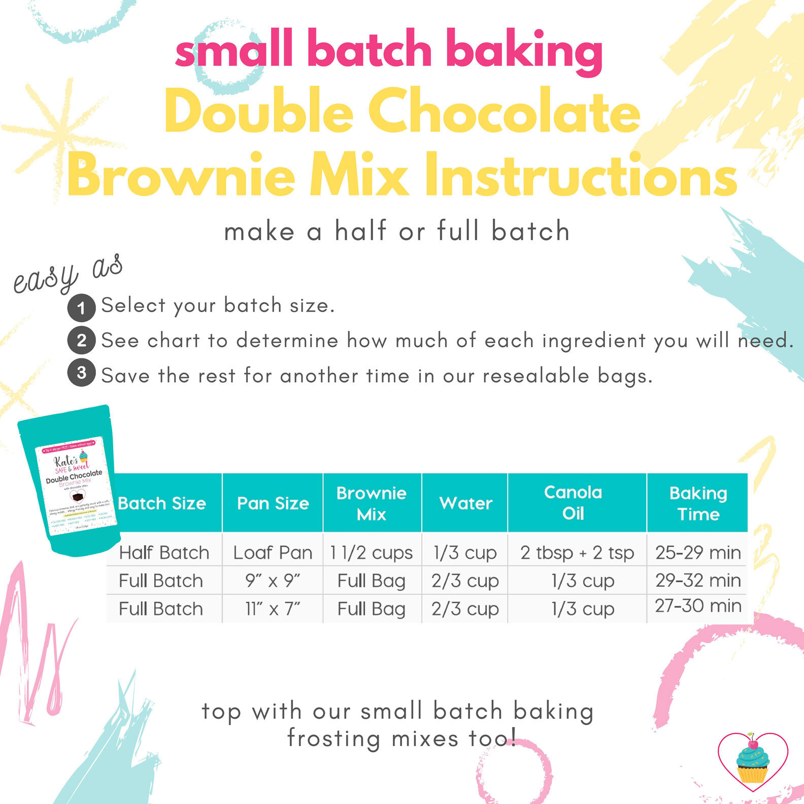 Kate's-Safe-and-Sweet---Small-Batch-Baking---Brownie-Mix-Instructions