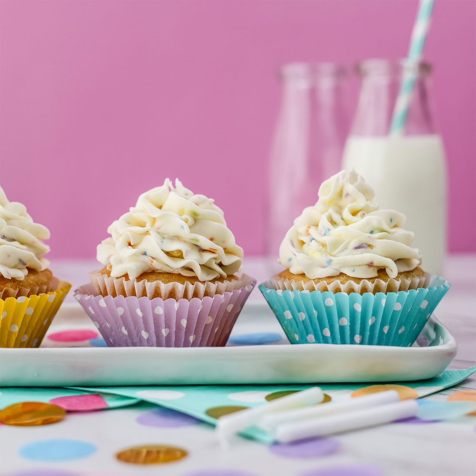 Kate's-Safe-&-Sweet---Confetti-Frosting-on-Cupcakes