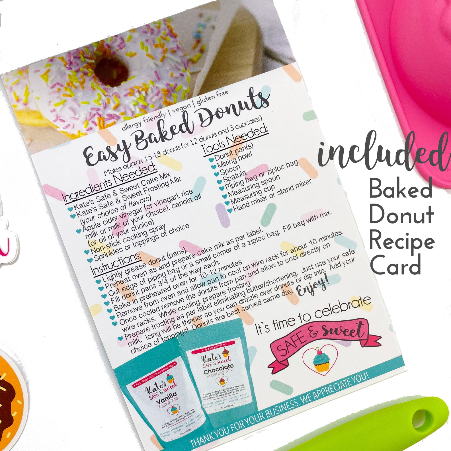 Kate's-Safe-and-Sweet---Donut-Baking-Box---Recipe-Card