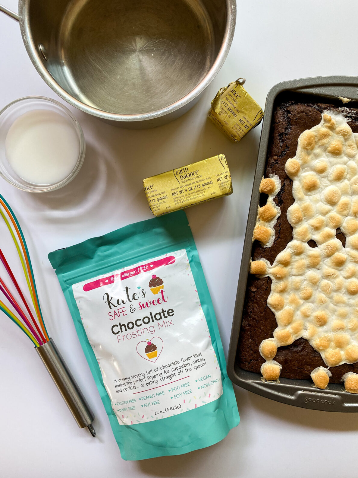 Kate's Safe and Sweet - Marshmallow Topped Brownies