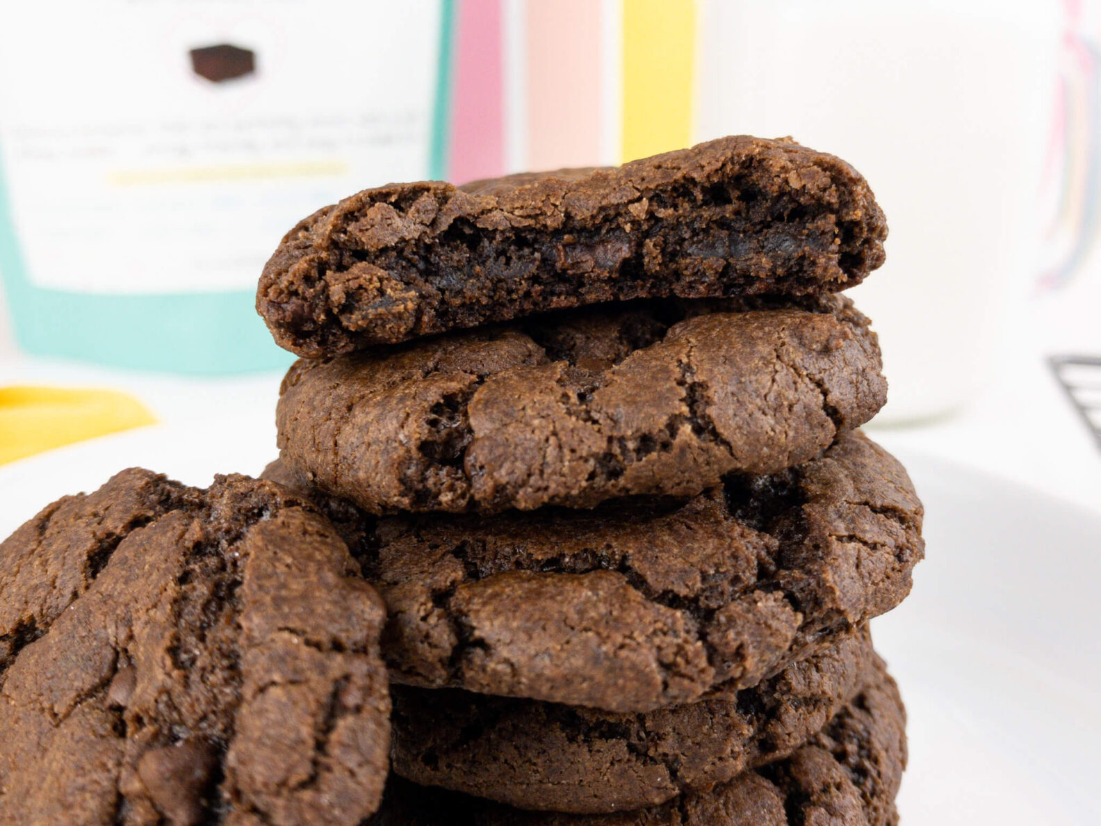 Kate's Safe and Sweet - Brownie Cookie Close Stack