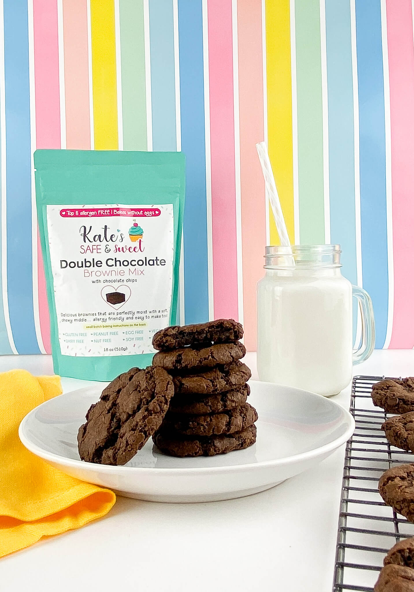 Kate's Safe and Sweet - Brownie Cookie Stack