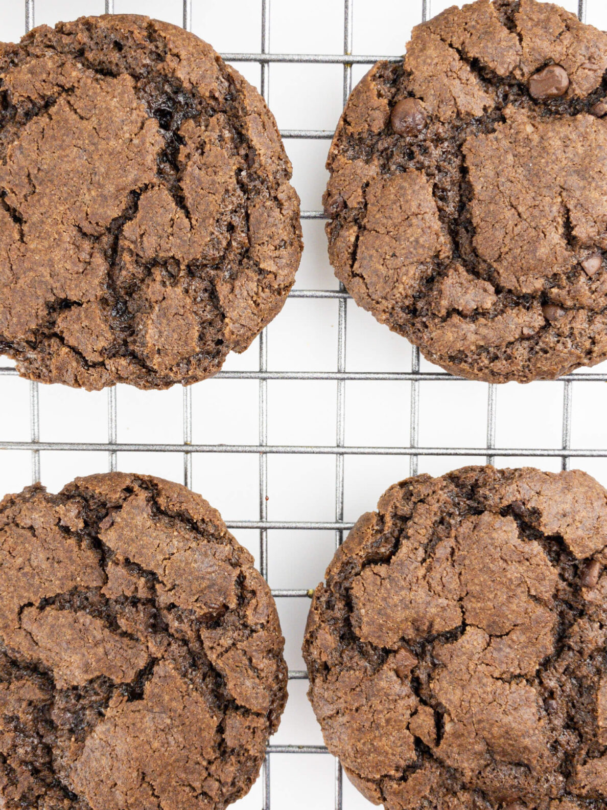 Kate's Safe and Sweet - Brownie Cookies Flat on Tray