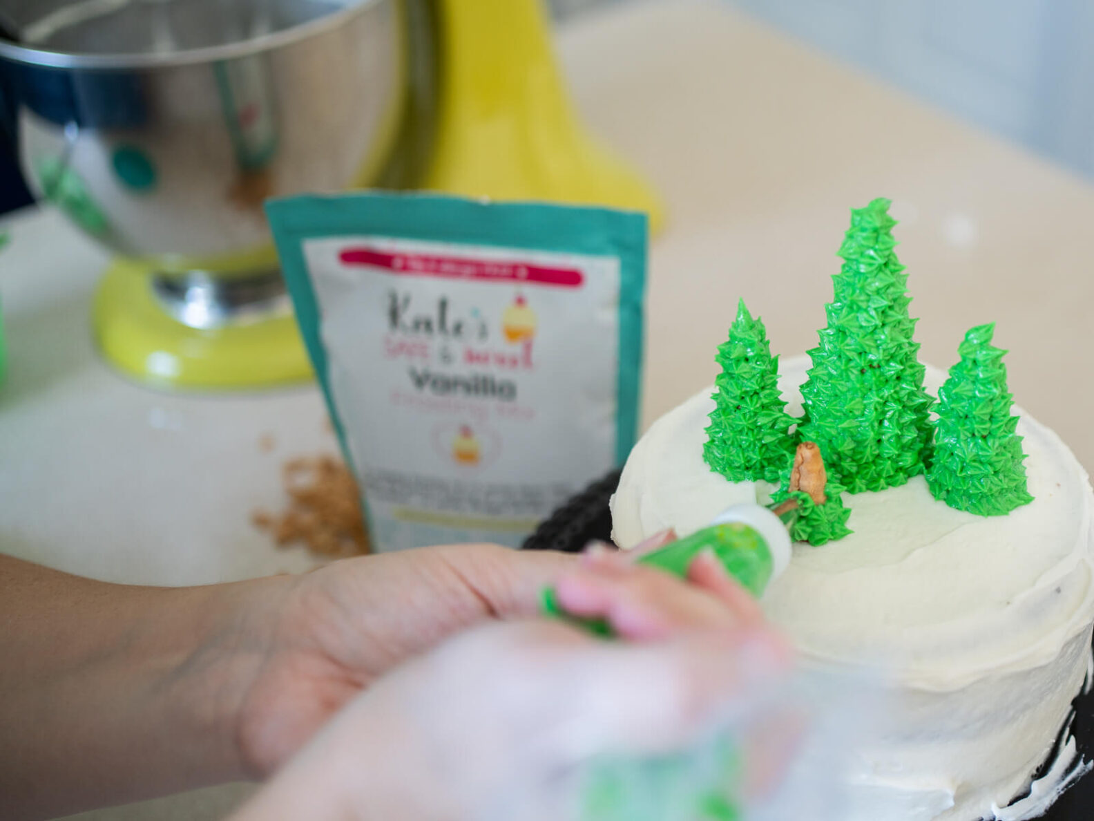 Kate's Safe and Sweet - Christmas Chocolate Cake Piping Tree