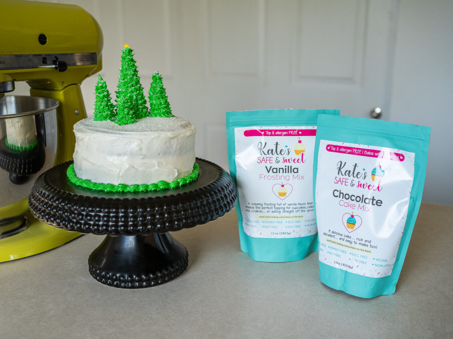 Kate's Safe and Sweet - Christmas Chocolate Cake Trees and Mixes