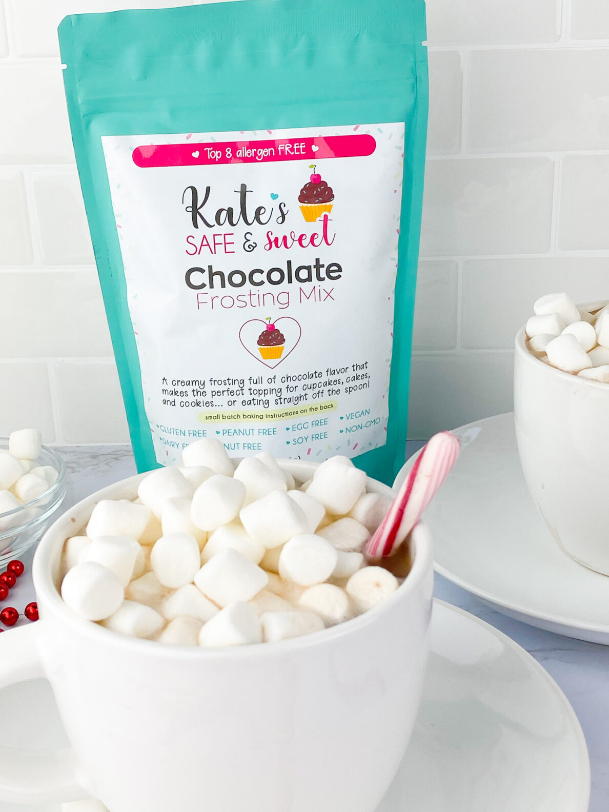 Kate's Safe and Sweet - Hot Cocoa - Mix Behind