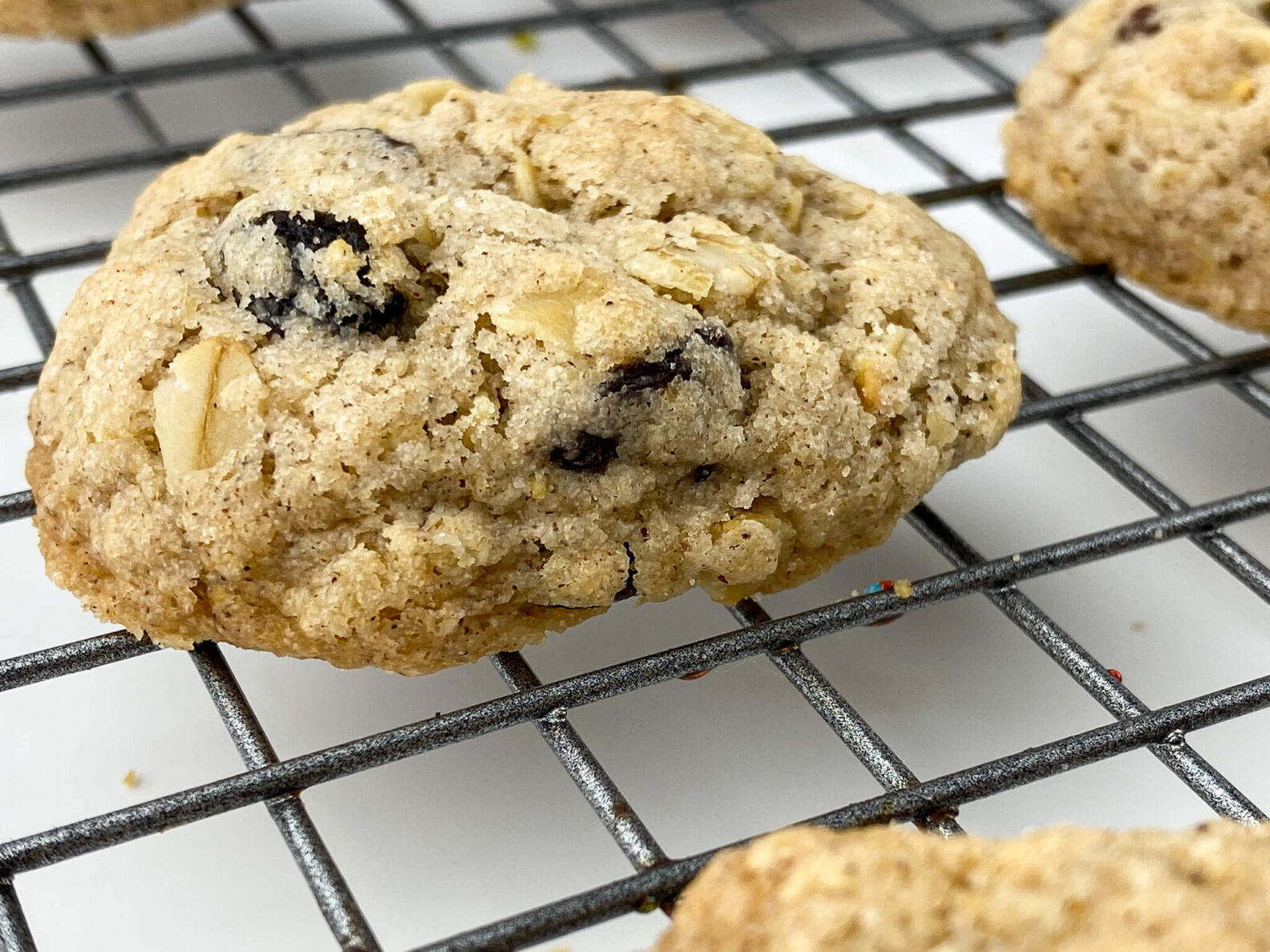 Kate's Safe and Sweet - Oatmeal Raisin Cookies on Tray single