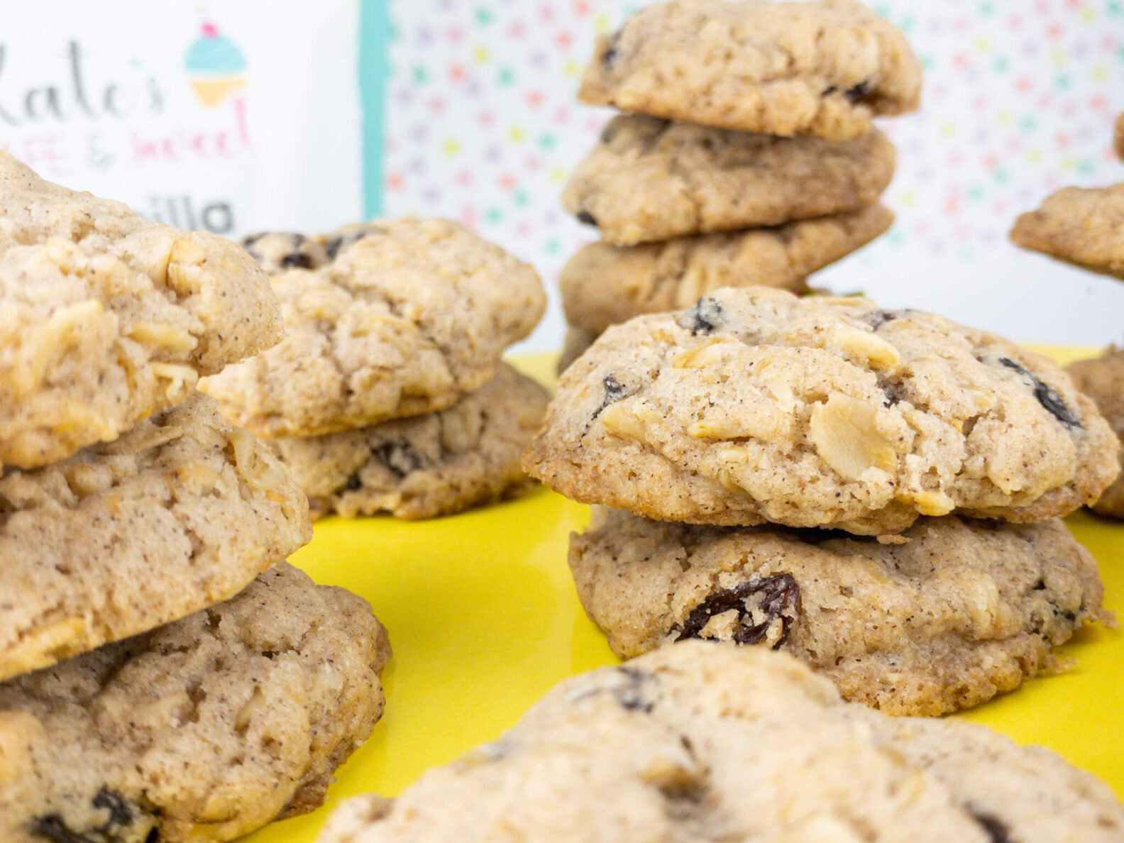 Kate's Safe and Sweet - Oatmeal Raisin Cookies with Mix