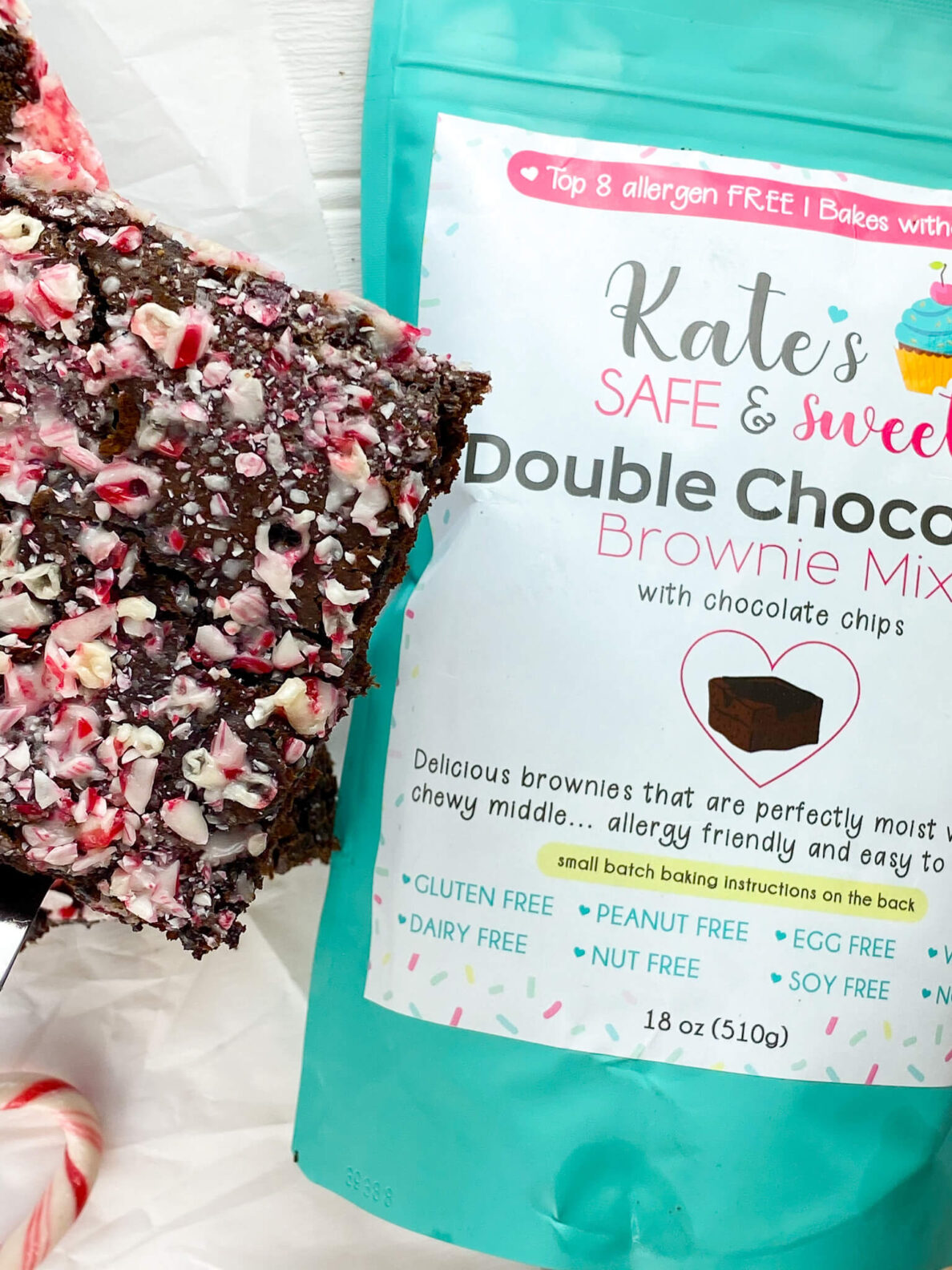 Kate's Safe and Sweet - Peppermint Brownies