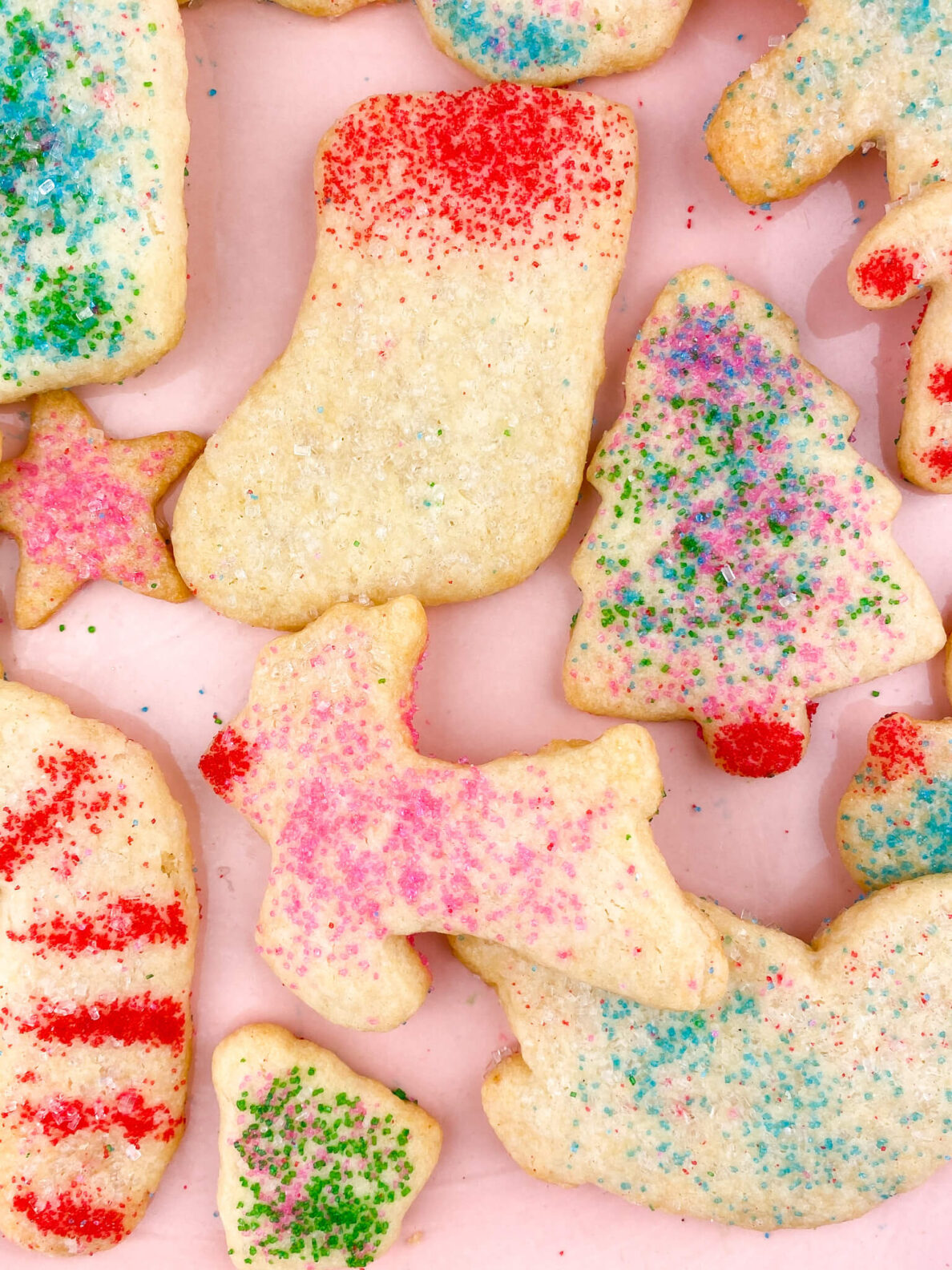 Kate's Safe and Sweet - Rolled Sugar Cookies - Reindeer & Stocking