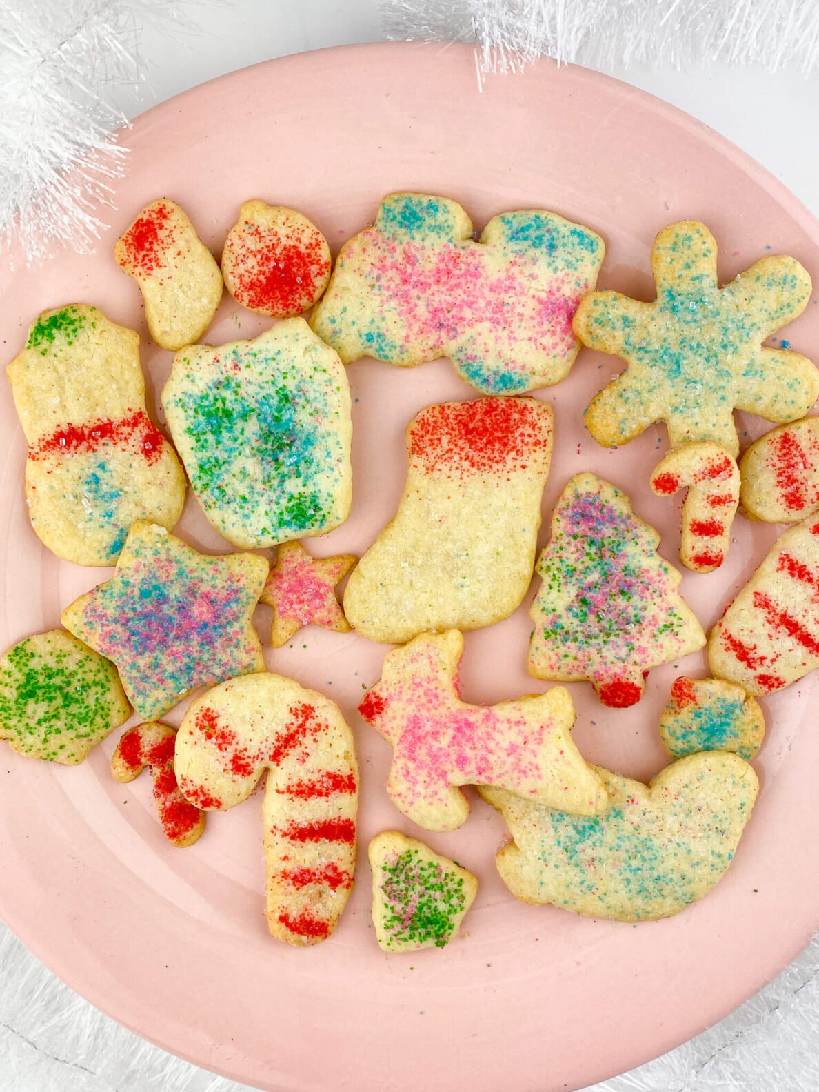 Kate's Safe and Sweet - Rolled Sugar Cookies on Plate