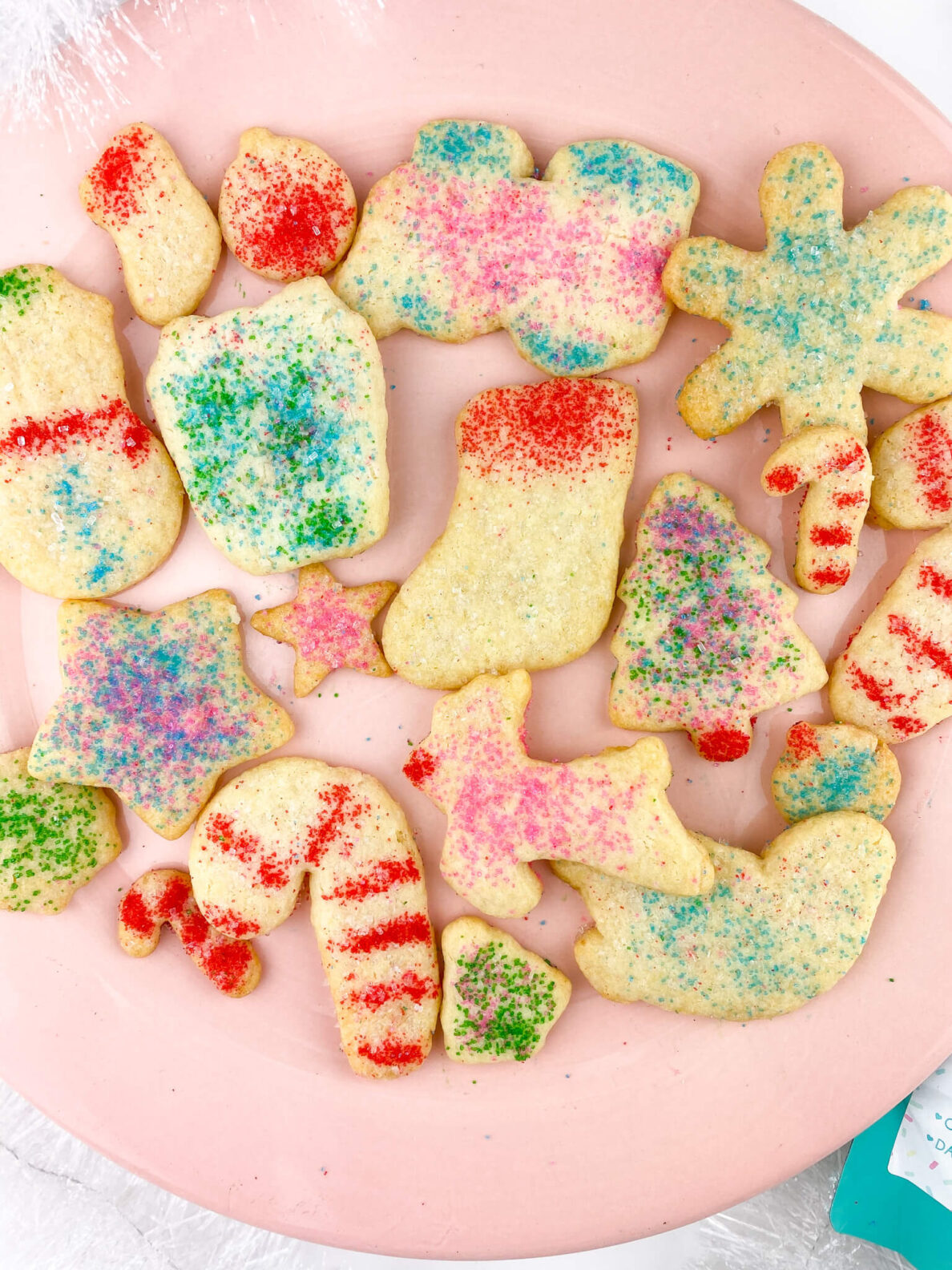 Kate's Safe and Sweet - Rolled Sugar Cookies on Plate Close