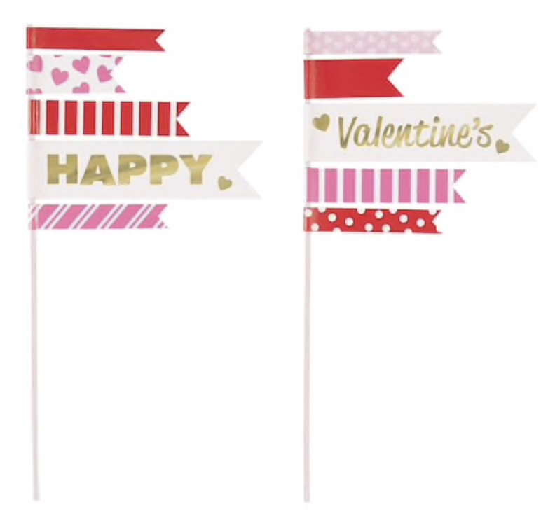 Unique Valentine's Pennant Toppers