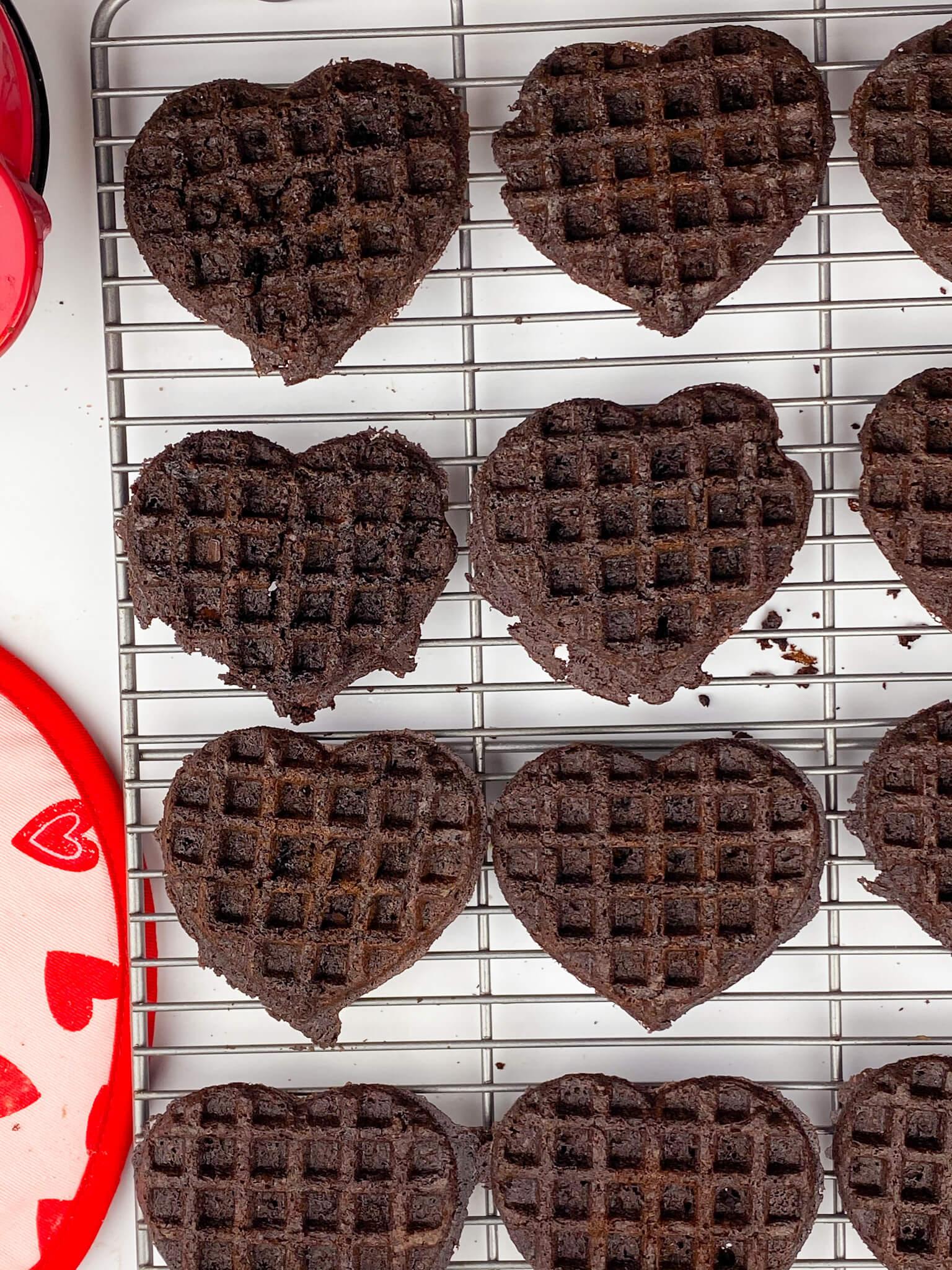 Kate's Safe & Sweet - Brownie Waffles on Rack