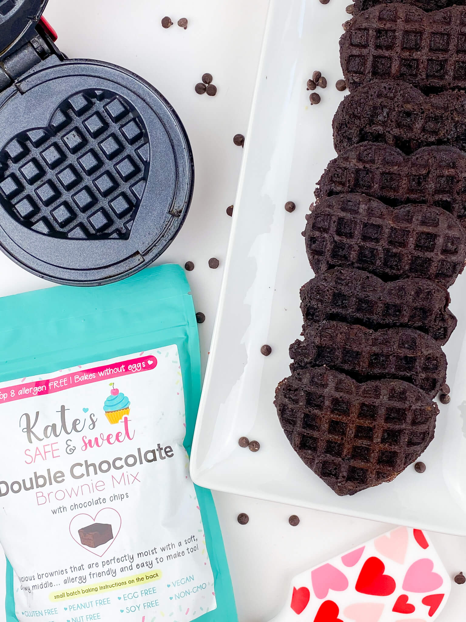 Kate's Safe & Sweet - Brownie Waffles with Maker