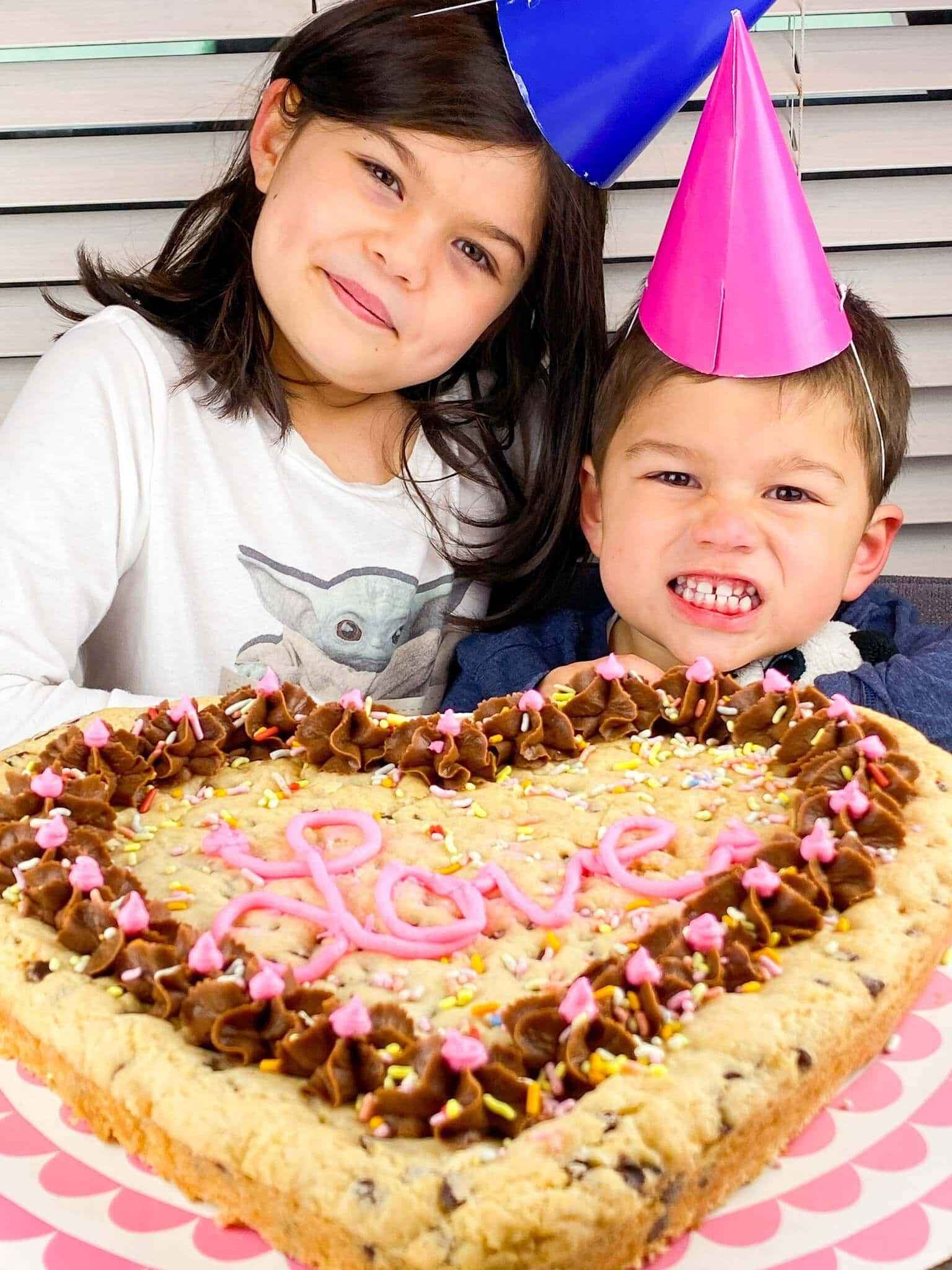 Kate's Safe and Sweet - Heart Shaped Cookie Cake with Kids