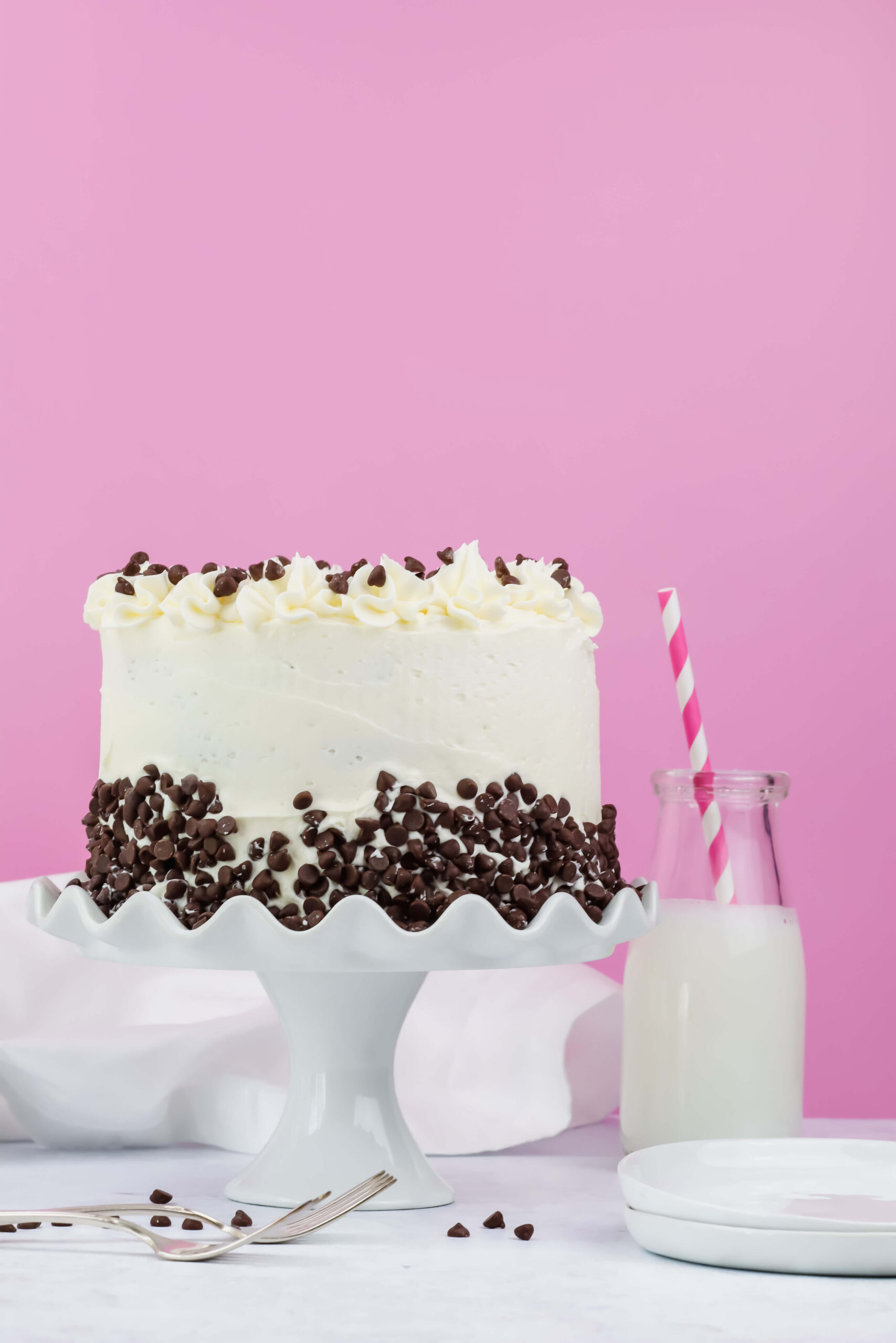 Kate's Safe & Sweet - Chocolate Chip Cookie Dough Cake with Dairy Free Milk