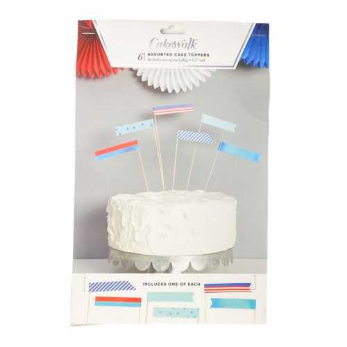 Kate's-Safe-&-Sweet---Assorted-Stars-&-Stripes-Paper-Cake-Toppers-by-Cakewalk