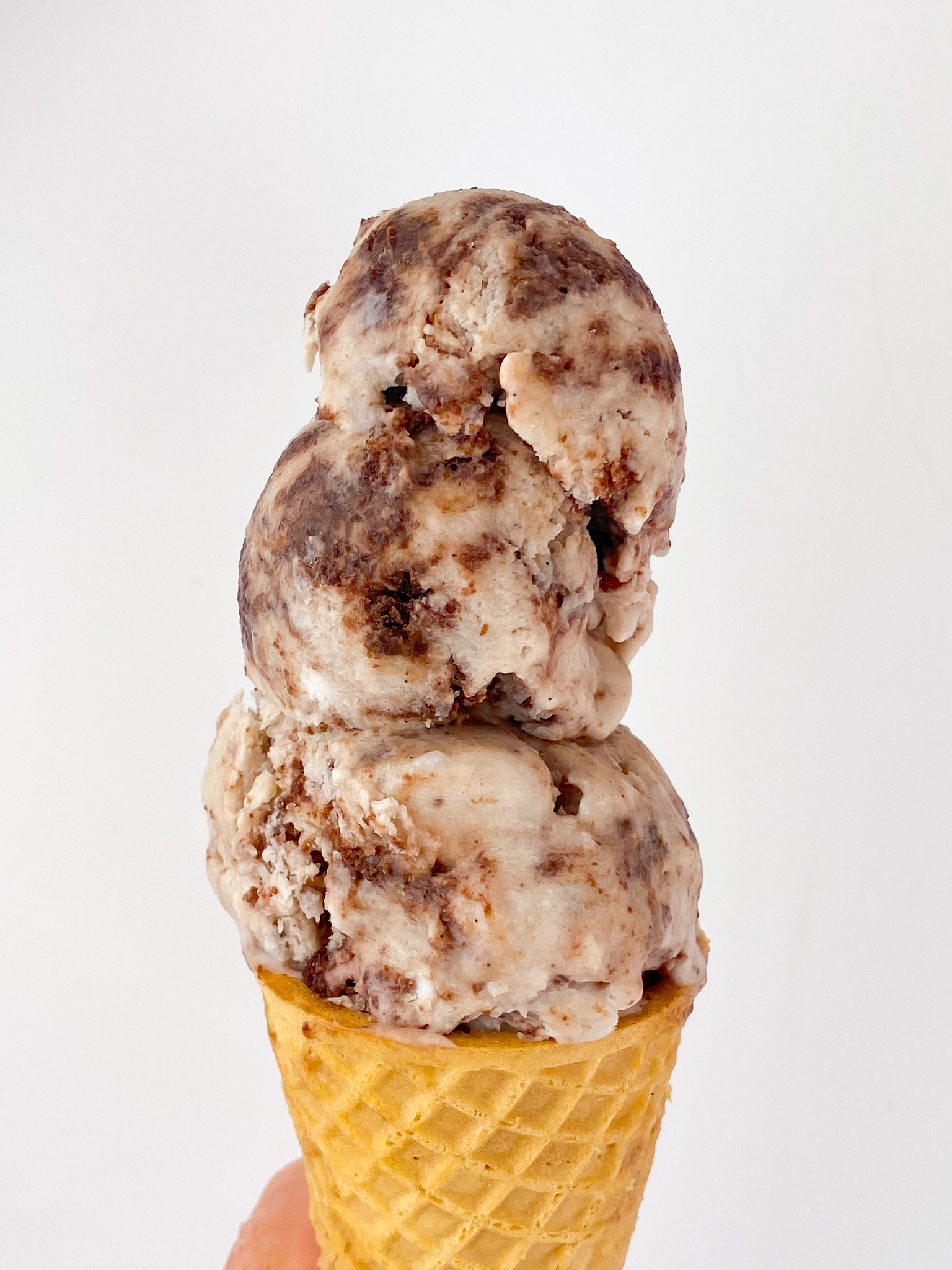 Kate's Safe & Sweet - Brownie Ice Cream In Cone