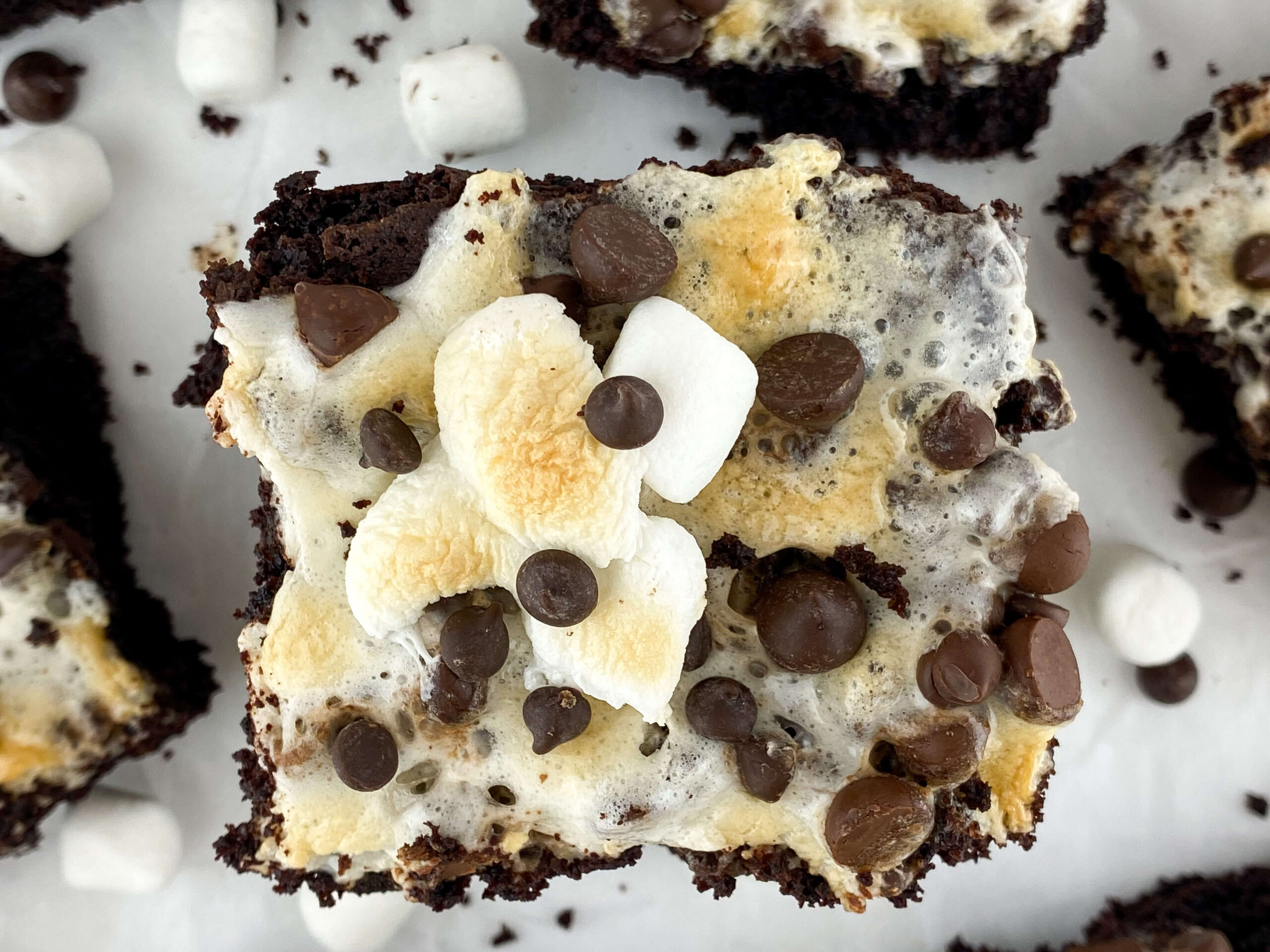 Kate's Safe & Sweet - Rocky Road Brownies with Marshmallows