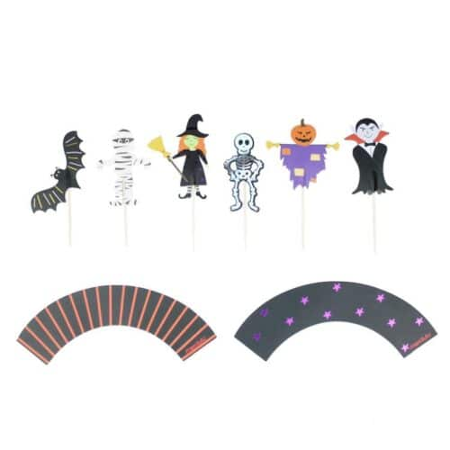 Kates Safe and Sweet - Trick or Treat Halloween Toppers by Merrilulu